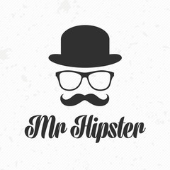 Mister hipster icon