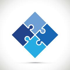 blue jigsaw pieces background