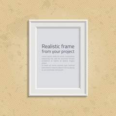 Picture frame with text