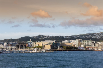 Wellington waterfront, north island of New Zealand