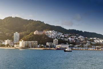 Wellington waterfront, north island of New Zealand