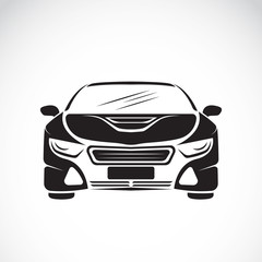 Vector image of an car design on white background, Vector car lo