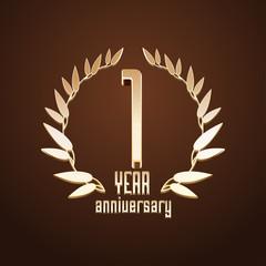 1 year anniversary vector logo