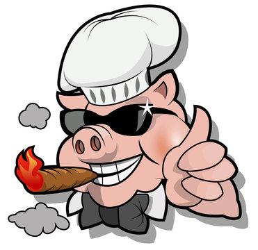 Pig BBQ Chef