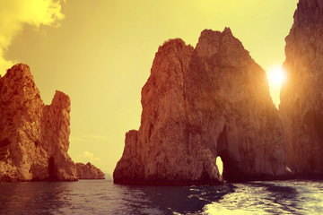 Faraglioni Cliffs in Capri - Italy, Europe