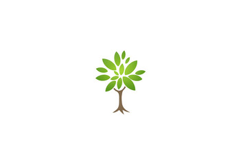 green tree ecology nature logo