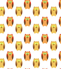 pattern with owls in cartoon style