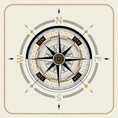Nautical vintage compass 02