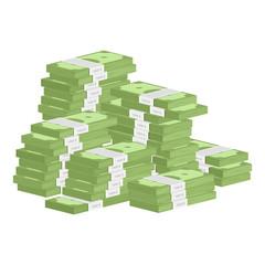 Heap of rolls money