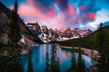Moraine Lake in Banff, Alberta, Canada