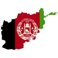 Territory and flag of Afghanistan