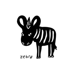 Abstract Zebra silhouette