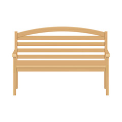 Wooden park bench vector illustrsation isolated on white background