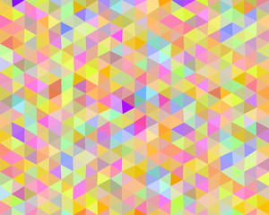 Multicolored vector background design made up of colored triangles in a row side by side and beneath. Abstract background from segments. Geometric shapes