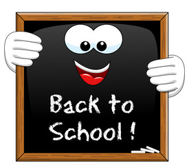 Back to school Cartoon Blackboard isolated