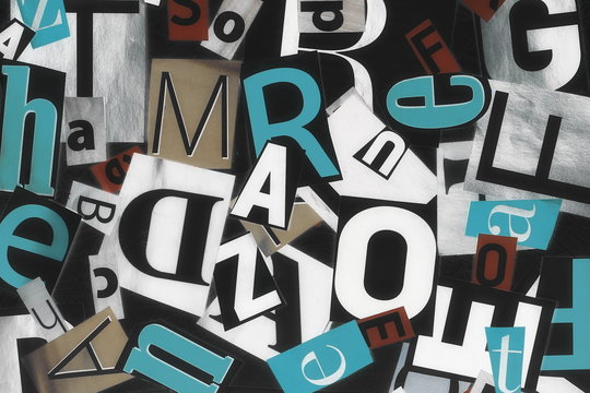 collage of letters background