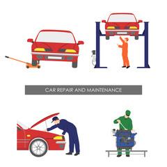 Repair and car maintenance . Vehicle repair workshop