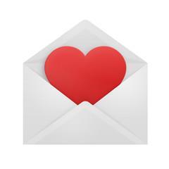 Heart in an envelope.