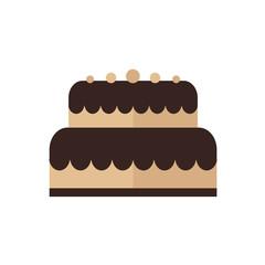 cartoon cake icon brown tone color