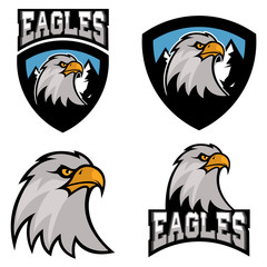eagles. Sport team or club logo template.