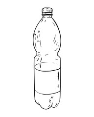 Vector sketch of plastic bottle