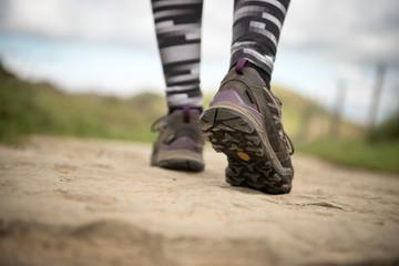 Hiking boot closeup