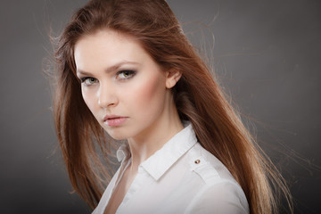 Beauty gorgeous elegant woman portrait.