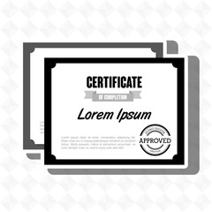 diploma certificate isolated icon design, vector illustration  graphic