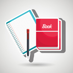book and notepad isolated icon design, vector illustration  graphic