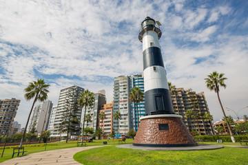 Miraflores Lighthouse, in lima, Peru.