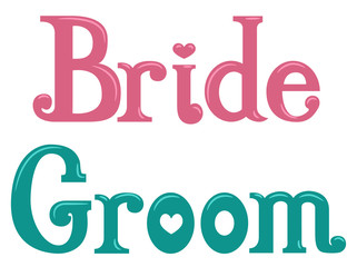 Bride Groom Lettering