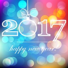 nowy rok 2017 wektor