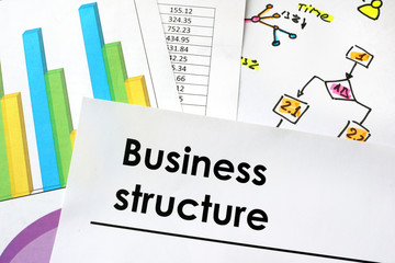 Business structure sign written on a paper.