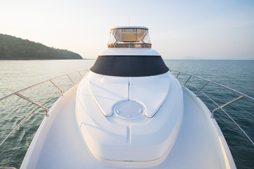 luxury boat yacht on the sea