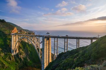 Cadres-photo bureau Cote Sunset at Bixby Bridge, California