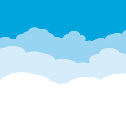 Cloudy Background on blue sky