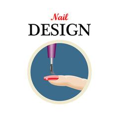 Icon nail design,beauty salon,manicure.