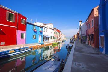 architecture of Burano. Venice, Italy.