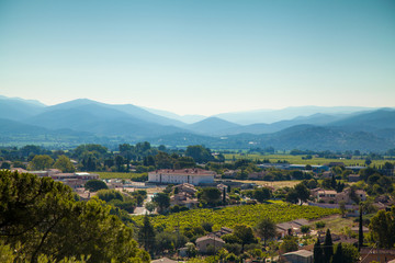 View from a small typical village in the  Vars south of France