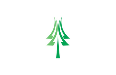 tree pine abstract vector logo