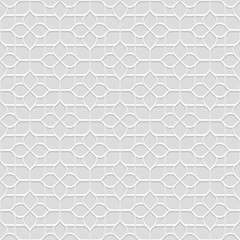 Delicate grey Seamless Flower Pattern in Oriental style
