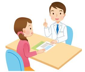 説明する医者 患者 医療