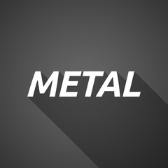 Long shadow illustration of    the text METAL
