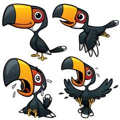Vector illustration of Cartoon Hornbill Character Set