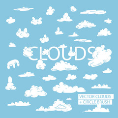 circle cloud brushes,