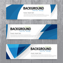 vector background  banner Collection horizontal business set tem