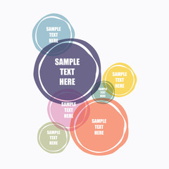 abstract colorful round shape text banner design vector