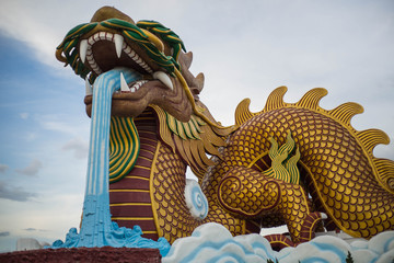 big dragon in China museum, supanburi,Thailand