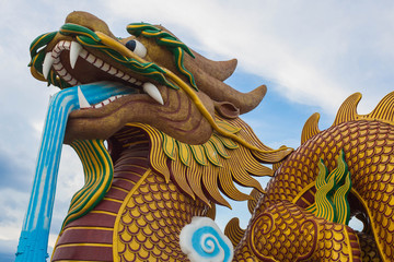 big dragon in China museum, supanburi,Thailand