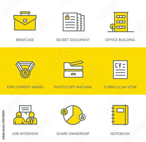 office icons fichier vectoriel libre de droits sur la banque d 39 images image. Black Bedroom Furniture Sets. Home Design Ideas